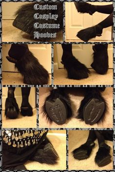 Custom Cosplay Costume Hooves, this would be awesome if I ever decided to do Draenei cosplay