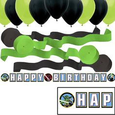 """LEGO Star Wars """"Happy Birthday"""" Party Banner - Balloons - Streamers"""