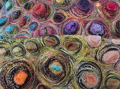 Gordana Brelih - machine stitching on felt