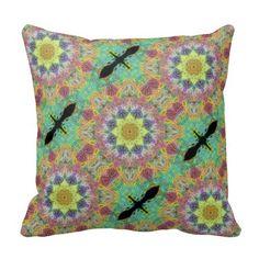Starburst Kaleidescope Print Throw Pillow $33