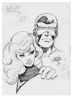 Cyclops and Phoenix by John Byrne Comic Book Artists, Comic Artist, Comic Books Art, Marvel Comics, Marvel Art, Jean Grey, X Men Funny, John Byrne, Vintage Comics