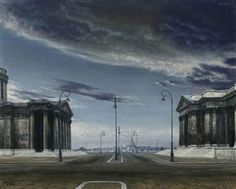 """Stadsplein (City Square)"" a.k.a. ""Stadsgezicht (View of Town)"", 1958 / Carel Willink (1900-1983) / Private Collection, USA"