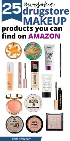 Did you know you can buy drugstore makeup on Amazon? Check out the best drugstore makeup you can get on Amazon right now and they are often priced lower than usual! #drugstore #makeup #amazon #beauty Makeup List, Makeup Guide, Makeup Tools, Makeup 101, Makeup Stuff, Makeup Geek, Makeup To Buy, I Love Makeup, Cute Makeup