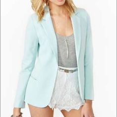 A.K & CO.  Turquoise blazer Beautiful blazer seen on lots of celebrities :)  fits very good. You'll love this blazer! Urban Outfitters Jackets & Coats Blazers