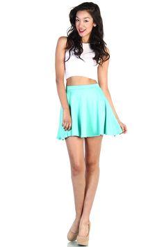 I lovLOVE this skirt. Skater Skirt - Mint