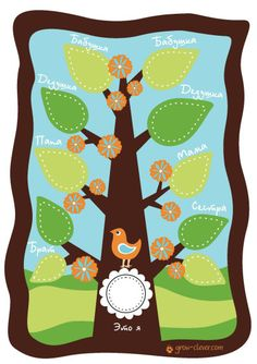 Шаблон семейного дерева | Family tree pattern
