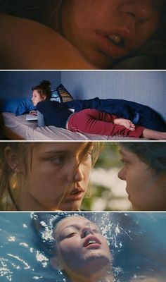 10 Movies With Powerful Women. Scenes from the movie Blue Is the Warmest Color. #movies