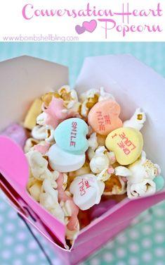 Conversation Heart Popcorn Recipe - Simple & fun for Valentine's Day!