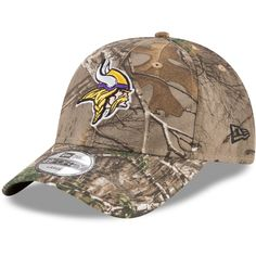 4215d9115 Men s Minnesota Vikings New Era Realtree Camo Realtree 49FORTY Fitted Hat