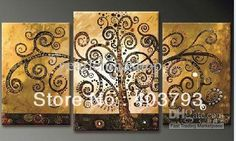 MODERN ABSTRACT HUGE LARGE CANVAS ART OIL PAINTING Fashion fortune tree for office decoration no stretched
