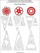 Heart snowflake cutting patterns