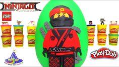 Huevo Sorpresa Gigante de Lego Ninjago la Pelicula con Kai de Plastilina...