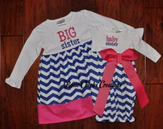 Big Sister Little Sister Outfits Set by RosieCheeksCreations