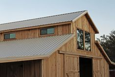 """Barns and Buildings - Western barn to connect to existing farm house. Instead of lean-to, add screened """"dog trot"""" porch."""