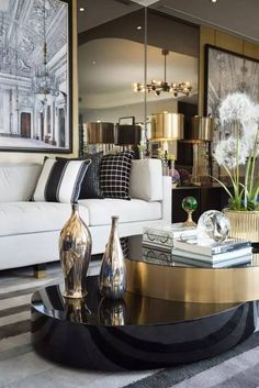 The living room serves as a place for leisure, relaxation and friends. Stay for a selection of the picturesque, high-end ideas for modern living room design curated by the keen eyes of Boca do Lobo in a variety of colors, layouts, formats and arrangements with styles ranging from the more traditional to the avant-garde eclectic designs. Discover more Ideas: www.bocadolobo.com/en/products/ #bocadolobo #luxuryfurniture #exclusivedesign #interiodesign #designideas #livingroom #modernroom…