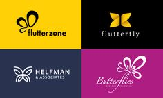 40 Creative butterfly themed Logo Design examples for Inspiration. Follow us www.pinterest.com/webneel