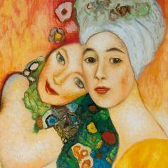 Gustav Klimt - Deux Amies Poster Affiche D`Art (70x70cm) #68126