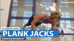 Plank Jacks Exercise Video