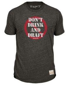 Retro Brand Men's Nfl Fantasy Life Tri-Blend T-Shirt - Black/Red/White XXL