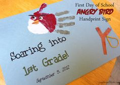 angry birds First Day of School Angry Bird Sign