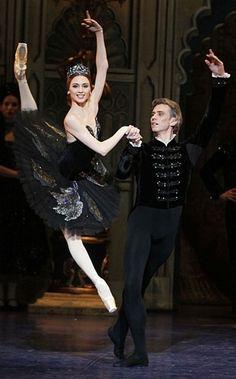 Svetlana Zakharova Photo: black swan pas de duex Oh my gosh her foot is so winged it looks broken.  Get it...winged haha