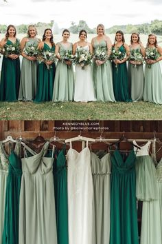 If you're obsessed with green, then Kennedy Blue's bridesmaid dresses in the colors Sage, Moss and Emerald are perfect for you! Available in 100+ styles, 50+ colors, sizes 00-32, and easy to mix & match with other styles. // green bridesmaid dress // unique velvet bridesmaid dress // velvet green dress // garden wedding // elegant velvet bridesmaid dress // deep green wedding // mix and match bridal party // mismatched bridesmaid dresses Velvet Bridesmaid Dresses, Affordable Bridesmaid Dresses, Mismatched Bridesmaid Dresses, Unique Dresses, Short Dresses, Wedding Dresses, Party Looks, Green Wedding, Green Dress
