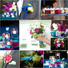 © IM 2012   Pink, Blue, Teal Wedding Colors