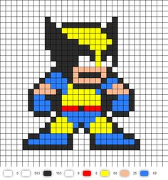 Wolverine Perler Bead Pattern