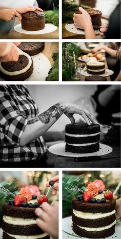 DIY Naked Cake  https://www.foreverly.de/magazin/naked-cake-wie-ihr-eine-trendige-hochzeitstorte-selbst-machen-koennt/