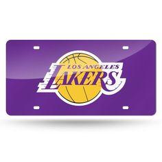 Los Angeles Lakers Laser Cut License Plate - Purple