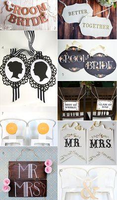 wedding chair signs emmaline bride