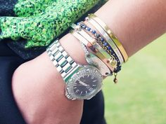 Natalya Kanj of #FiveFiveFabulous personalises her Fiji #friendshipbracelet stack