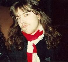 Lars Ulrich of Metallica in a rather jaunty scarf