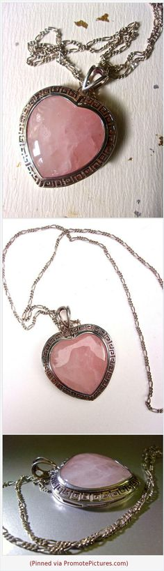 Rose Quartz Sterling Silver Heart Pendant Necklace, Italian, Vintage #necklacependant #rosequartz #sterlingsilver #pink #vintage #heart #italian #gemstone https://www.etsy.com/RenaissanceFair/listing/545565918/rose-quartz-sterling-silver-heart?ref=listings_manager_grid  (Pinned using https://PromotePictures.com)