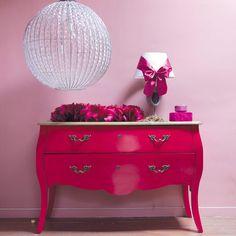 Ladekast roze - Haute couture