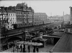 Berlin, S-Bahn an der Jannowitz-Brücke (1937)