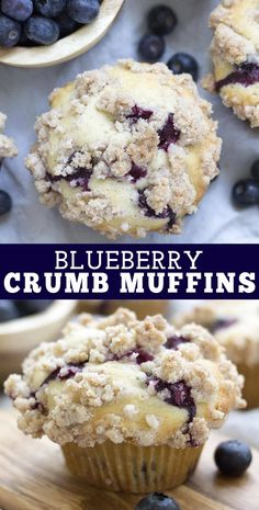 Blueberry Crumb Muffin Recipe Blueberry Crumb Muffins, Blueberry Bread Recipe, Homemade Blueberry Muffins, Blueberry Recipes, Blue Berry Muffins, Bakery Muffins, Cinnamon Crumble, Breakfast Pastries, Muffin Recipes