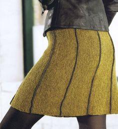 Billedresultat for annette danielsen solsikke nederdel Crochet Bodycon Dresses, Crochet Skirts, Knit Skirt, Knit Dress, Knitting Short Rows, Knitting Yarn, Vest Pattern, Skirt Knitting Pattern, Knitting Patterns
