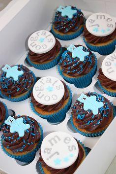 Baby Boy Cupcakes by ConsumedbyCake, via Flickr