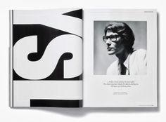 YSL #Layout #Magazine #typography