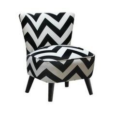 Mid Century Modern Chair Zig Zag - Black/White