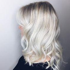 platinum white blonde balayage hair ombre balayage