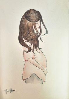 Maternity Watercolor - Ali Brugman - by Annie Biegler Pugmire
