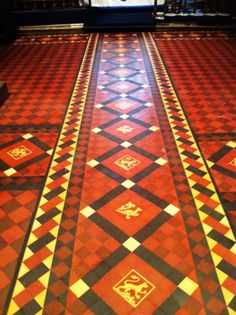 Victorian Church Floor After Cleaning and Sealing