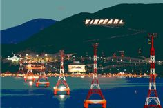 Vinpearl, Vietnam    An amusement park in one of the privatized islands across from Nha Trang, VN