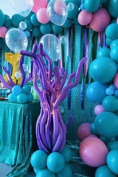 Mermaid Theme Birthday, Little Mermaid Birthday, Little Mermaid Parties, Pink Birthday, 21st Birthday, First Birthday Parties, Birthday Party Themes, First Birthdays, Birthday Ideas
