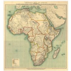 Map of Africa ❤ liked on Polyvore featuring backgrounds, maps, africa, art, fillers, borders and picture frame