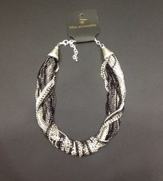 #necklace #chain #silver #black #jewels #accessories #christmas #gift #style