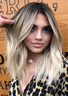 Fantastic Balayage Hair Colors with Dark Roots for 2019 Just check out here and see so many awesome balayage hair coloring techniques with dark roots to wear nowadays. We suggest you to explore this link and find fantastic ideas of balayage hair colors to Blonde Hair With Roots, Blonde Hair Looks, Ash Blonde Hair, Cool Toned Blonde Hair, Blonde Hair For Brunettes, Dark Roots Hair, Platinum Blonde Hair, Bleach Blonde, Red Hair