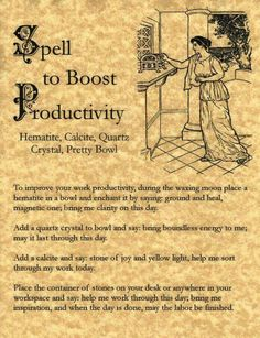 Spell to Boost Productivity